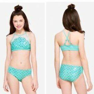 Blue 2 Pcs Justice Bikini Swimsuit Size 12